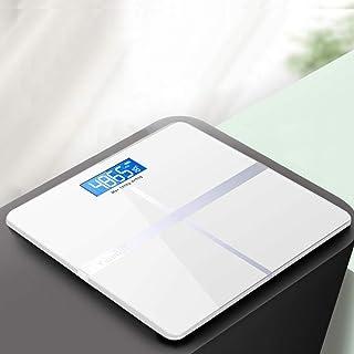 KANJJ-YU Báscula de pesaje digital para el peso corporal, báscula de baño, piso con tecnología Step-On Bluetooth Smart Body Fat elegante negro herramientas de medición básculas Max 180kg, Negro Hogar