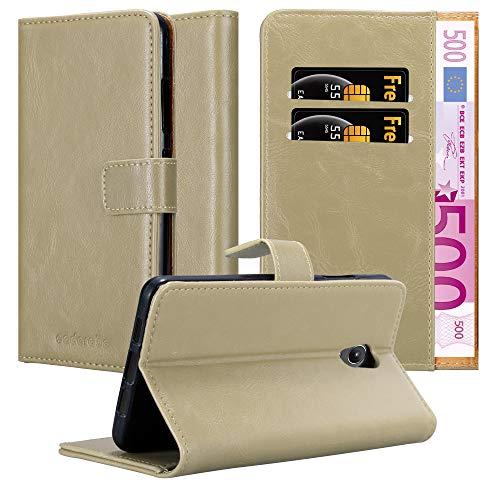 Cadorabo Hülle für Lenovo P2 in Cappuccino BRAUN – Handyhülle mit Magnetverschluss, Standfunktion & Kartenfach – Hülle Cover Schutzhülle Etui Tasche Book Klapp Style