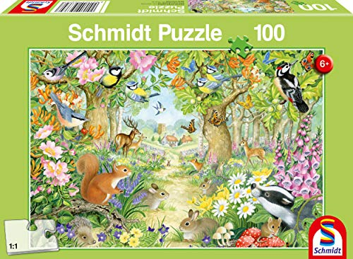 Schmidt Spiele 56370 Tiere im Wald, 100 Teile Kinderpuzzle
