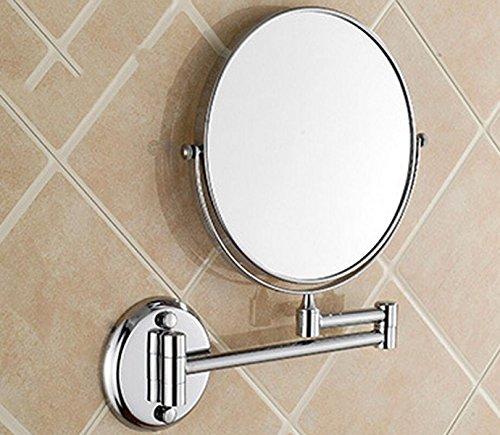 Pared De Espejo De Aumento Espejo De Tocador Espejo Plegado Telescópico Espejo De Aumento Sub-sided,Silver-A:6in