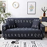 WXQY Funda de sofá elástica Impresa, Funda de sofá, Funda de sofá elástica con Todo Incluido, Utilizada para la Funda de protección de sofá de Esquina A7 1 Plaza