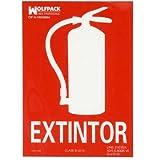WOLFPACK LINEA PROFESIONAL Cartel/Señal Fluorescente Extintor 30x21 cm.