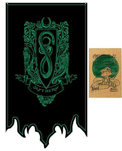 DANIFANEELLED Harry Potter Fanartikel Gryffindor Slytherin Ravenclaw Hufflepuff Hogwarts deko zauberschüler Flagge Banner