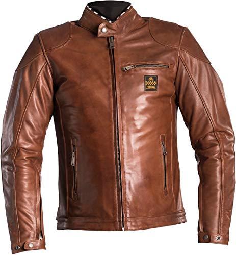 Helstons Road Motorradjacke, Leder, naturfarben, Camel, Größe M