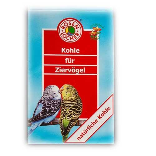 Rosenlöcher Kohle für alle Ziervögel 15g
