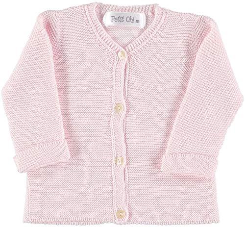 Petit Oh! - Chaqueta de Punto para bebé algodón 100% Talla 3-6 Meses