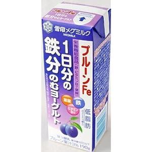 雪印メグミルク MEGMILKプルーンFe 1日分の鉄分のむヨーグルト 190g 9本セット×2 要冷蔵