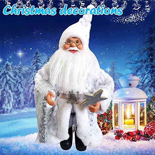 cookin 1 x Weihnachtsmann-Puppe, Weihnachts-Kind-Geschenk, Spielzeug, Figur Plüsch-Spielzeug, Puppe, Weihnachtsparty, Baum, hängende Dekor, Home Indoor Tisch-Ornament, Kamin-Regal-Sitzer-Dekorationen