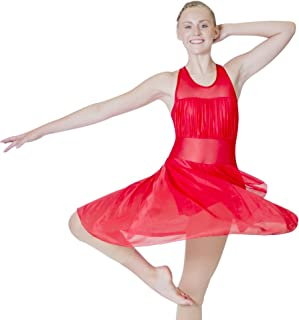 red lyrical dance dress