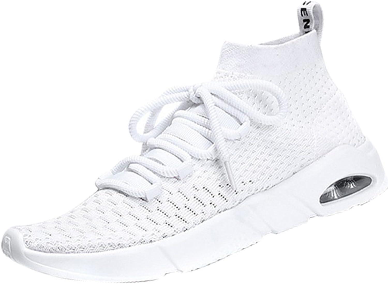 Herren Light Laufschuhe Fitness Schuhe Freizeit Lace Breathable Knit Schuhe