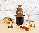 Rosenstein & Söhne Fondue: Schokoladen-Brunnen mit 2 Ebenen, 275 Watt (Schokoladenbrunnen Schokolade) - 5