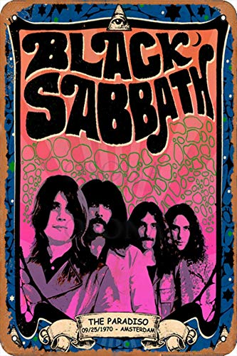OSONA 1970 Black Sabbath The Paradiso Retro Nostalgische Kunst Traditionelle Rostfarbe Zinn Logo Werbung Markante Wanddekoration Geschenk