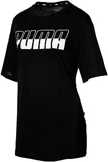 Puma Rebel Boyfriend Logo T-Shirt for Women, Size XS Cotton Black