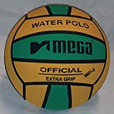 Mega Water Polo Ball - Balón de golf (talla 4), color verde y amarillo