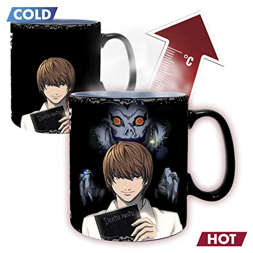 ABYstyle - Death Note - Taza cambia de color con calor - 460 ml - Kira & L