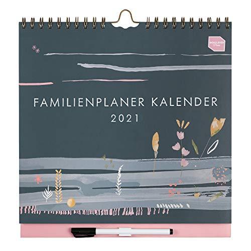 (en alemán) Boxclever Press 'Familienplaner Kalender' Calendario 2020 2021 pared. Calendario 2020 2021 de año académico con columnas para 6 personas. Planificador semanal empieza en ago'20 - dic'21.