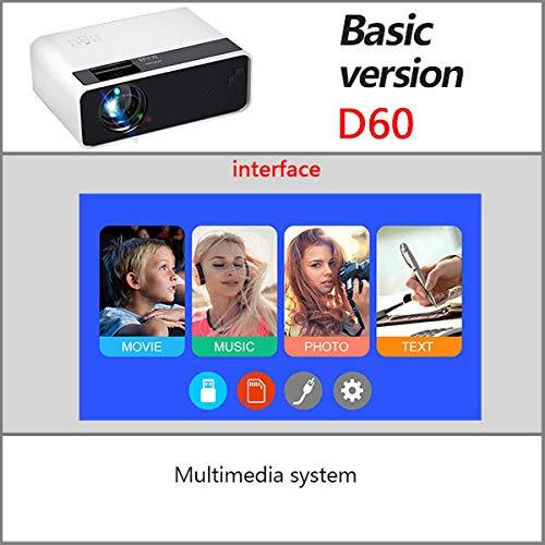 DINAER Proyector LED HD D60   Resolución 1280x720P   Soporte de Video 3D Beamer Home Cinema Opcional Android WiFi Proyector D60S-1_D60