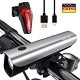 Hosome Juego de Luces Para Bicicleta, Recargable por USB 300 Lúmenes Luz Delantera y Trasera Impermeable Faros Delanteros y Traseros para Ciclismo Bicicleta de Montaña