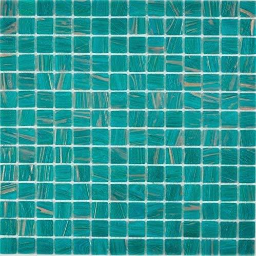 Glasmosaik türkis Wand Küche Dusche Bad Fliesenspiegel Mosaikfliese Mosaikmatte Mosaikplatte