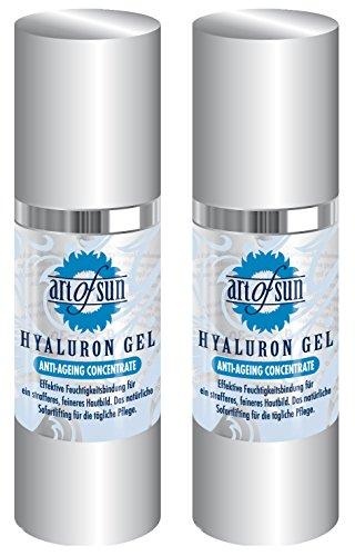 Art of Sun Beauty & Legwear Store Lot de 2 flacons de gel hyaluronique anti-âge 30 ml