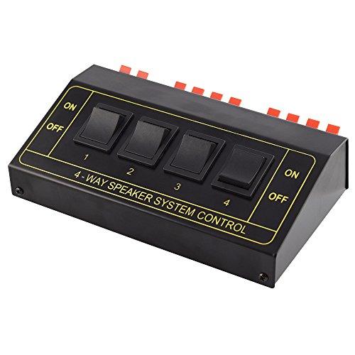 Audio Lautsprecher Umschaltbox Switch für 8 Boxen, Schwarz