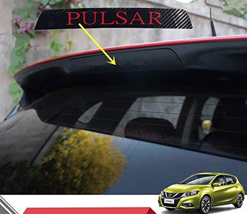 N/A Auto Carbon Fiber Bremsleuchte Aufkleber, für Nissan Pulsar/TIIDA Hatchback 2016 2017 2018 Hoch Montierte Hintere Bremslichtabdeckung Abziehbilder Dekoration Zubehör