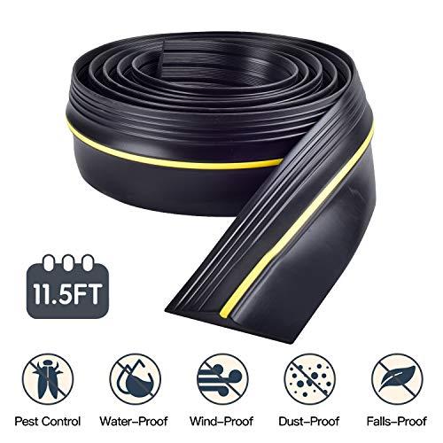 3.5m /13mm Épaisseur Joint de Seuil de sol de garage en caoutchouc,seuil de porte de garage Bande de remplacement facile à couper,caoutchouc résistant aux intempéries DIY remplacement de décapage