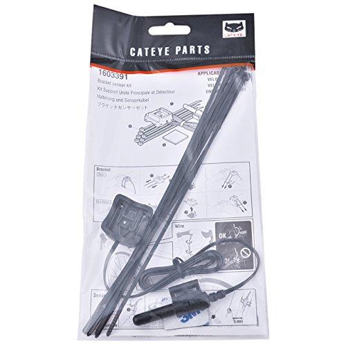 CatEye Velo-7/Velo-9 Enduro Sensor Kit-160-3391 Ciclo Ordenadores - Negro, Sin Tamaño