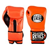 Cleto Reyes Training Gloves with Hook and Loop Closure for Men and Women (16oz, Tiger Orange)