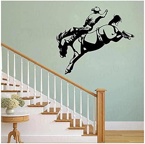 Vinilos decorativos vinilos decorativos western cowboy horse house living room 110X78Cm