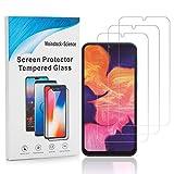 Weinstock-Science 3X Bruchsicheres Panzerglas für Samsung Galaxy A10 Schutzfolie aus 9H Echt Glas (Klar)