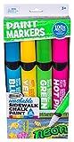 RoseArt Washable Sidewalk Chalk Paint Neon Jumbo Markers
