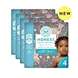 The Honest Company | Baby Diapers with Trueabsorb Technology | My Deer | Size 4 | 92Count
