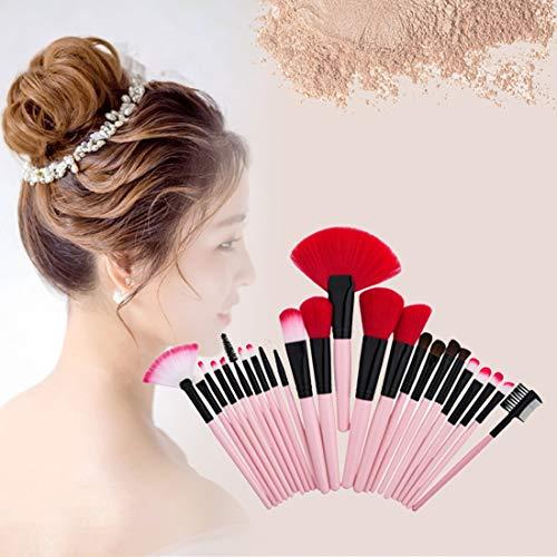 Tuzi Qiuge Verfassungs-Werkzeug Holz Griff Make-up-Bürsten-Kosmetik-Stiftung Creme Powder Blush (Color : Pink)