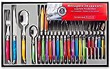 Laguiole Heritage - Ménagère 24 pièces multicolore - Set de couverts de table acier inox et ABS pour 6 personnes -...