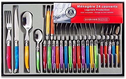 Laguiole Heritage - Ménagère 24 pièces multicolore -...