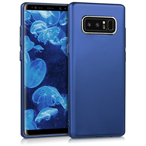 kwmobile Hülle kompatibel mit Samsung Galaxy Note 8 DUOS - Handyhülle - Handy Hülle in Metallic Blau