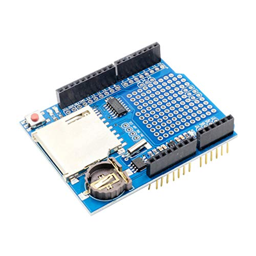 TOYANDONA Data Logger Module Logging Shield Data Recorder Shield for Arduino UNO SD Card Professional