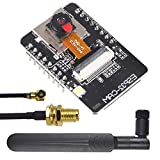 ALAMSCN ESP32-CAM Camera Module WiFi Bluetooth Wireless ESP32 CAM ESP32-S OV2640 2MP + 2.4GHz 5.8GHz 8dBi Wireless RP SMA Antenna Extension Cable 35CM IPX Adapter Cable for Arduino
