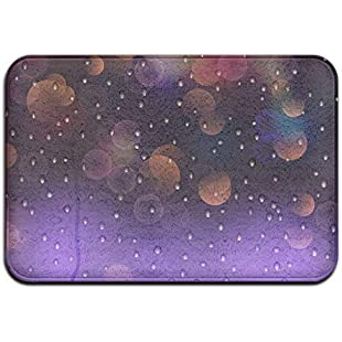 mabaoyuheng Doormats Cover Rug Colorful Water Drops Background Durable Non-Slip Indoor/Outdoor/Front Entrance Rug Floor Mats Shoe Scraper Door Mat