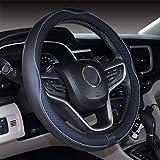 Istn Coprivolante per Auto in Pelle Microfibra 38 cm per la Maggior Parte delle Auto (Nero Grigio)