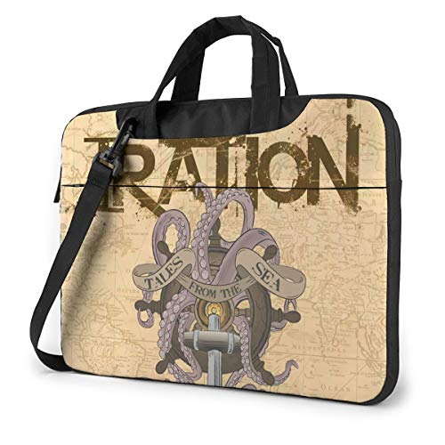 Vsldfjc Music Iration Stylish Customized Laptop Shoulder Bag, Suitable for 13-15.6 inch MacBook Pro/Air and Most Other Laptops, Portable Laptop Bags, Briefcase Protective Covers