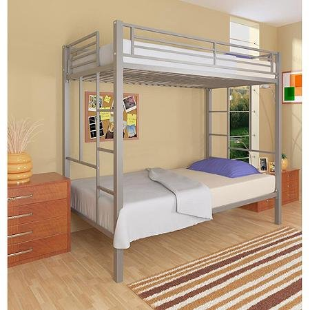 your zone twin over twin metal bunk bed