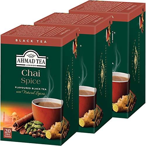 富永貿易 アーマッドティー (Ahmad Tea) チャイ スパイス ティーバッグ(20P) [ 英国ブランド 個包装 ] 40g ×3個