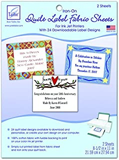 June Tailor Quilt Label Fusible Fabric Sheets