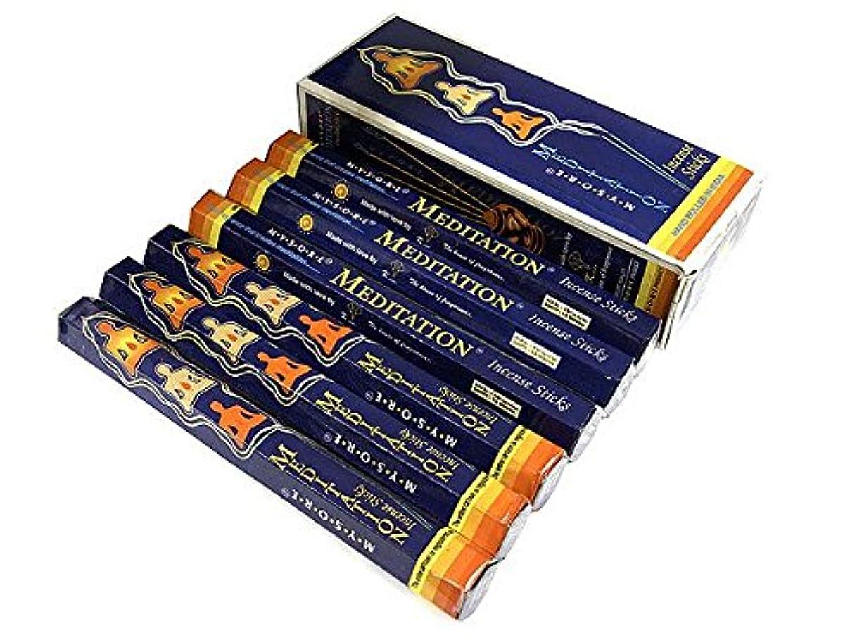 支出集中的なニックネームMYSORE BANDHU PERFUMERY WORKS MEDITATION メディテーション香 スティック 6箱セット