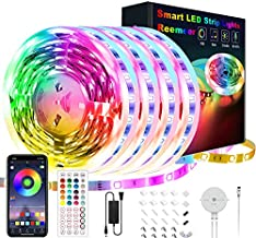 65.6ft Led Lights for Bedroom, Reemeer Led Strip Lights Music Sync Color Changing Led Lights with App Control and Remote, Led Light Strips Used for Party, Home Decoration