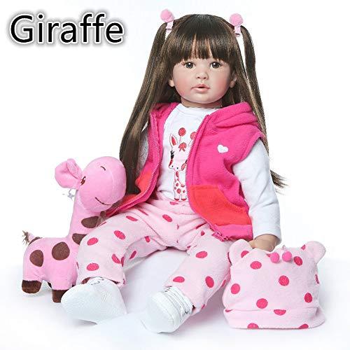 Danping Neue 60 cm hohe qualität wiedergeborenes Kleinkind Prinzessin mädchen Puppe Silikon Vinyl entzückende Lebensechte Baby Bonecas mädchen Bebe Puppe wiedergeboren