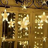 Cortina de Luces, 3m x 3m 300 LED, Blanco Frío, Resistente al Agua, 8 Modos de Luz, Decoración de Navidad, Fiestas, Bodas, Jardín