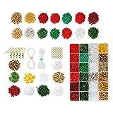 Harilla Kit de Cuentas navideñas DIY Pulsera Cuentas Kit de artesanía de Cuentas Set pequeñas Cuentas artesanales para Hacer Joyas Suministros para Adultos - Conjunto 2